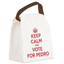 K C Vote For Pedro Canvas Lunch Bag