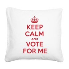 K C Vote For Me Square Canvas Pillow