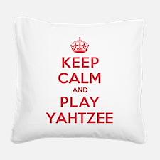 K C Play Yahtzee Square Canvas Pillow
