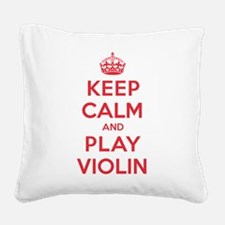 K C Play Violin Square Canvas Pillow