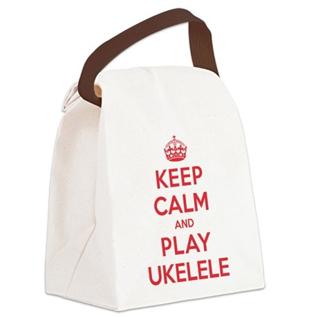 K C Play Ukelele Canvas Lunch Bag
