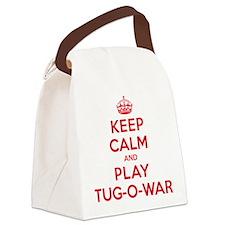 K C Play Tug-O-War Canvas Lunch Bag