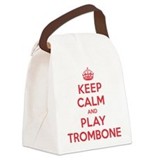 K C Play Trombone Canvas Lunch Bag