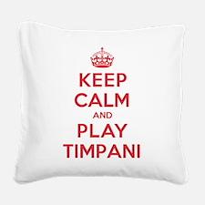 K C Play Timpani Square Canvas Pillow