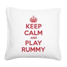 K C Play Rummy Square Canvas Pillow