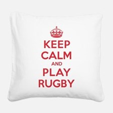 K C Play Rugby Square Canvas Pillow