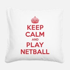 K C Play Netball Square Canvas Pillow