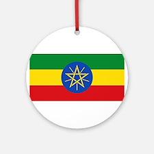 Ethiopia - National Flag - Current Round Ornament