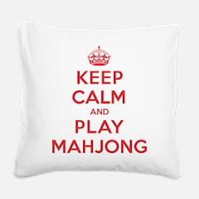 K C Play Mahjong Square Canvas Pillow