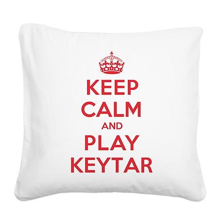 K C Play Keytar Square Canvas Pillow