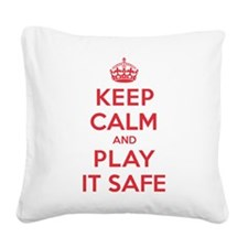 K C Play It Safe Square Canvas Pillow