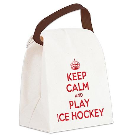 K C Play Ice Hockey Canvas Lunch Bag