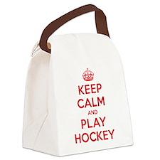 K C Play Hockey Canvas Lunch Bag