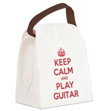 K C Play Guitar Canvas Lunch Bag
