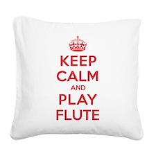 K C Play Flute Square Canvas Pillow