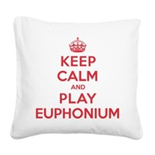 K C Play Euphonium Square Canvas Pillow