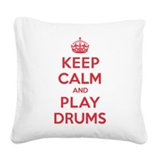 K C Play Drums Square Canvas Pillow