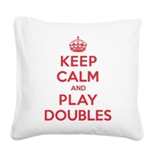 K C Play Doubles Square Canvas Pillow