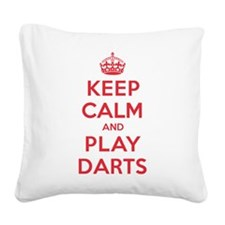 K C Play Darts Square Canvas Pillow