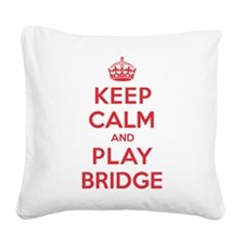 K C Play Bridge Square Canvas Pillow