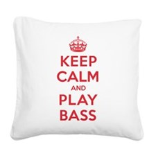 K C Play Bass Square Canvas Pillow