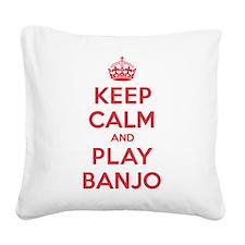 K C Play Banjo Square Canvas Pillow
