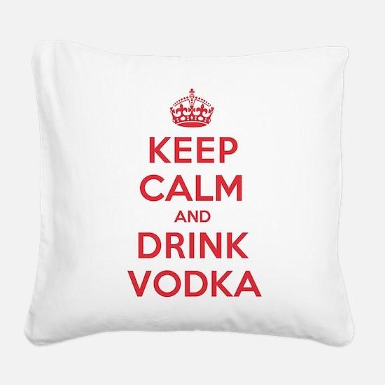 K C Drink Vodka Square Canvas Pillow