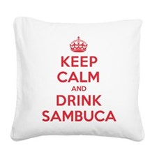K C Drink Sambuca Square Canvas Pillow