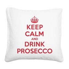 K C Drink Prosecco Square Canvas Pillow