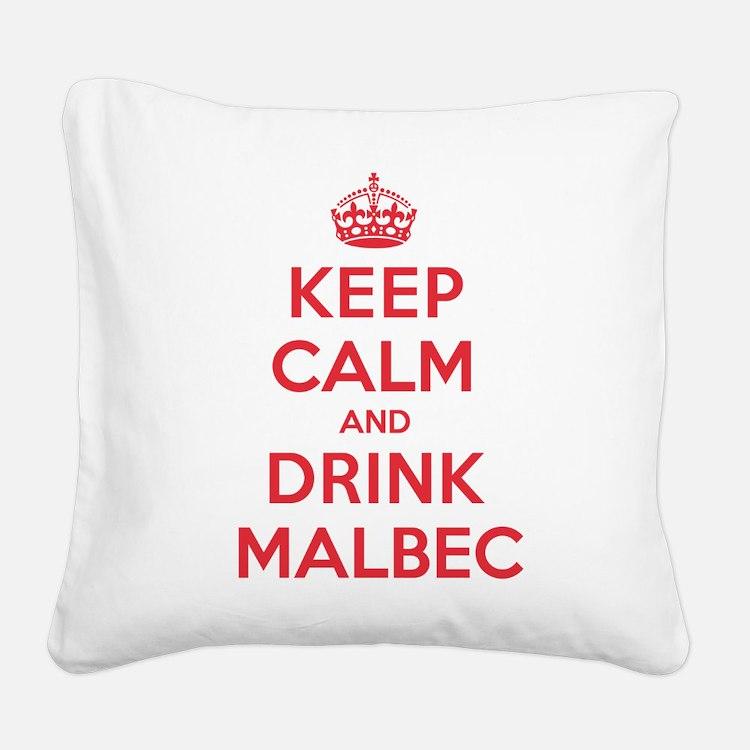 K C Drink Malbec Square Canvas Pillow