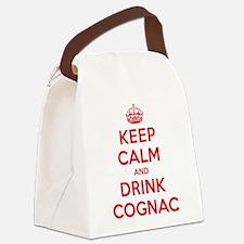 K C Drink Cognac Canvas Lunch Bag
