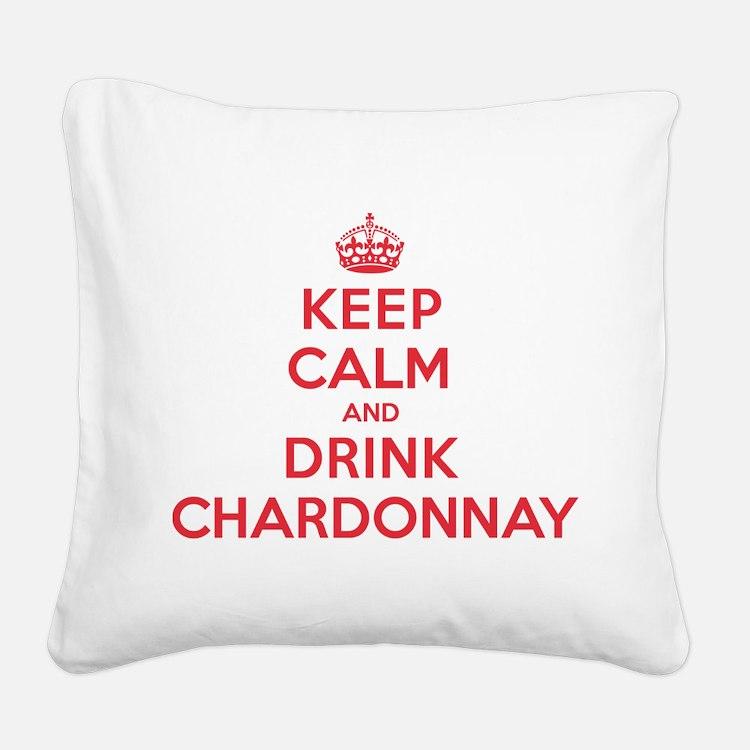 K C Drink Chardonnay Square Canvas Pillow