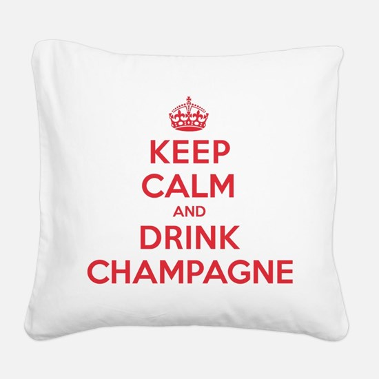 K C Drink Champagne Square Canvas Pillow