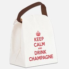 K C Drink Champagne Canvas Lunch Bag