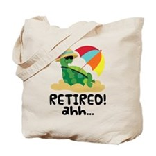 Cute Retired Turtle Tote Bag