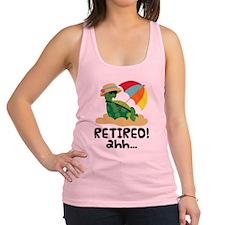 Cute Retired Turtle Racerback Tank Top