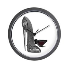 Black Elegant Stiletto Shoes Art Wall Clock