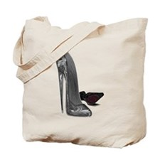 Black Elegant Stiletto Shoes Art Tote Bag