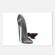Black Elegant Stiletto Shoes Art Postcards (Packag