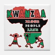 Kwanzaa Tile Coaster