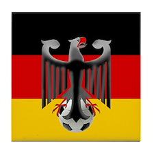 German Soccer Flag Tile Coaster