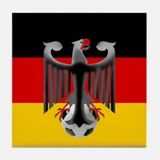German Soccer Flag Tile Coaster