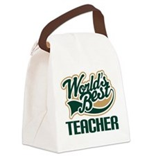 Teacher (Worlds Best) Canvas Lunch Bag