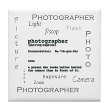 Photographer-Definitions-ghosted.png Tile Coaster
