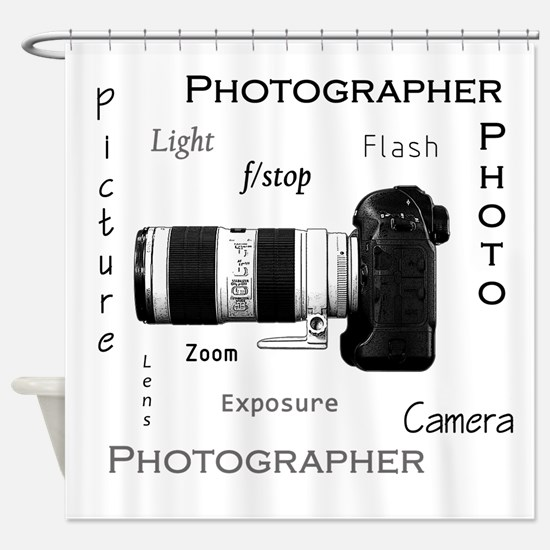 Photographer-Definitions-DSLR.png Shower Curtain