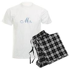 Blue Mr and Mrs Pajamas Pajamas