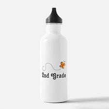 2nd Grade butterfly Water Bottle