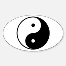 Yin and yang magatama swirls Decal