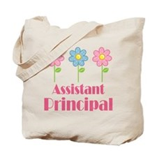 Assistant Principal (Flowered) Tote Bag