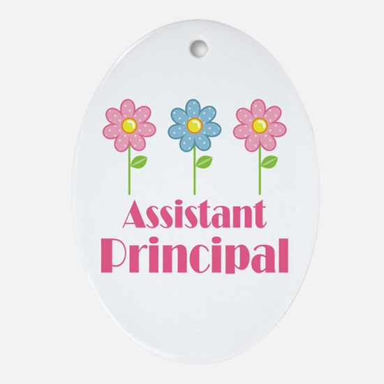 Assistant Principal (Flowered) Ornament (Oval)
